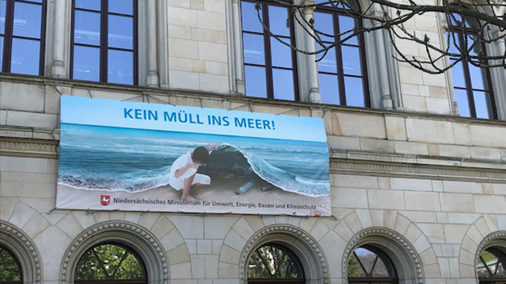 Kein Müll ins Meer!