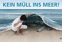 Kein Müll ins Meer